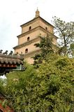 Pagoda chinês antigo famoso. fotografia de stock