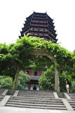 Pagoda, China. Pagoda temple in western china with a grand trellis entrance Stock Photos