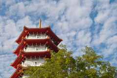 Pagoda in Chinese garden Stock Images