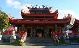 Pagoda Chinese Temple. Magelang, Indonesia - December 23, 2017: Liong Hok Bio, Chinese Temple, in Magelang, Central Java. Built in 1864 by Kapitein Be Koen Wie stock photos