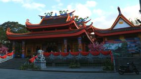 Pagoda Chinese Temple. Magelang, Indonesia - December 23, 2017: Liong Hok Bio, Chinese Temple, in Magelang, Central Java. Built in 1864 by Kapitein Be Koen Wie royalty free stock photo