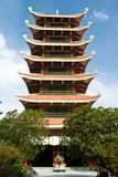 Pagoda in Chinese temple Stock Images
