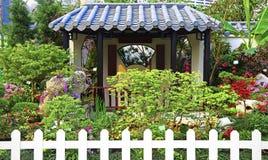 Pagoda in chinese zen garden royalty free stock photos