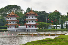 Pagoda chinoise dans le jardin chinois. Photographie stock libre de droits