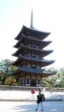 pagoda Cinco-famosa del templo de Kofuku-ji Fotografía de archivo libre de regalías