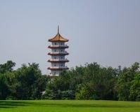 Pagoda cinese della torre a Singapore fotografia stock libera da diritti