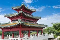 Pagoda cinese - Des Moines Iowa Immagine Stock Libera da Diritti