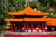 Pagoda cinese miniatura Fotografia Stock Libera da Diritti