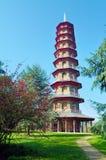 Pagoda cinese nei giardini di Kew Immagine Stock Libera da Diritti
