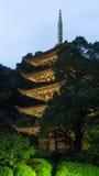 pagoda& cinq-raconté x29 de temple de Ruriko-JI ; , Préfecture de Yamaguchi Images libres de droits