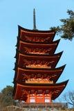 pagoda cinq racontée images stock