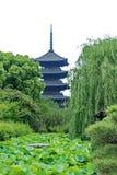 Pagoda cinq racontée de temple de Toji, Japon photographie stock libre de droits