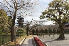 Pagoda Cinque-leggendaria di ji del  di TÅ a Kyoto Immagini Stock