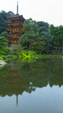 Pagoda& cinque-leggendario x29 del tempio di Ruriko-ji; , Prefettura di Yamaguchi Fotografia Stock