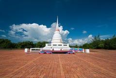 Pagoda and cobblestone under the blue sky Stock Image