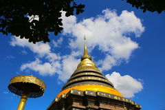 Pagoda con il cielo Fotografie Stock