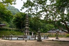 Pagoda coreano imagem de stock
