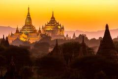 Pagoda d'Ananda au crépuscule photographie stock