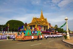 Pagoda d'argent de Royal Palace de Jour de la Déclaration d'Indépendance du Cambodge Images stock