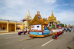 Pagoda d'argent de Royal Palace de Jour de la Déclaration d'Indépendance du Cambodge Image libre de droits