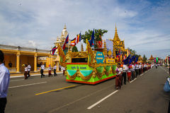 Pagoda d'argent de Royal Palace de Jour de la Déclaration d'Indépendance du Cambodge Photographie stock libre de droits