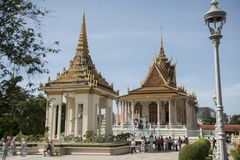 PAGODA D'ARGENT DU CAMBODGE PHNOM PENH ROYAL PALACE photos stock