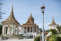 PAGODA D'ARGENT DU CAMBODGE PHNOM PENH ROYAL PALACE photo stock