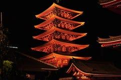 Pagoda d'Asakusa Sensoji Image stock