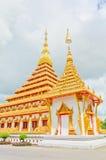 Pagoda d'or au temple thaïlandais, Khonkaen Thaïlande Photos libres de droits