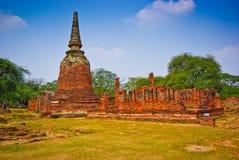 Pagoda d'Ayutthaya Image stock