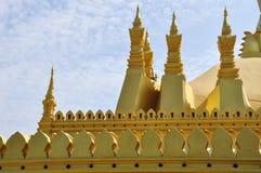 Pagoda d'or dans Pha qui temple de Luang, point de repère de Vientiane Photographie stock