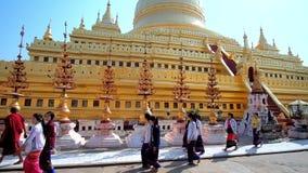Pagoda d'or de Bagan, Myanmar clips vidéos