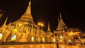 Pagoda d'or de Shwedagon de laps de temps belle de Yangon Myanmar banque de vidéos