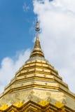 Pagoda d'or de Wat Phra That Doi Suthep en Chiang Mai, Thailan Image stock