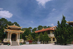 Pagoda da monte de Truc, Dalat, Vietnam Fotos de Stock Royalty Free