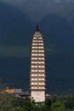 Pagoda in Dali, Yunnan Stock Photo