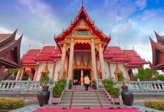 Pagoda dans le chalong phuket, THAÏLANDE de wat Images stock
