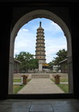Pagoda dans le JARDIN ROYAL EN CHINE Photo libre de droits