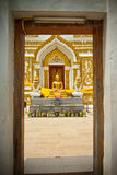 Pagoda dans le temple Photos libres de droits