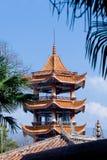 Pagoda dans le temple Photos stock
