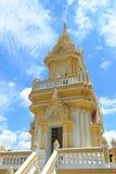 Pagoda dans le temple de Bangkok, Thaïlande. Image libre de droits