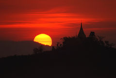 Pagoda dans Mrauk U, Myanmar. Images libres de droits
