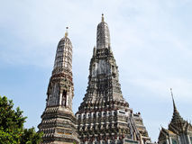 Pagoda dans Wat Arun (temple de l'aube) Photos stock