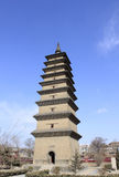 Pagoda in daylight stock images