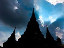 Pagoda de Ayothaya Imágenes de archivo libres de regalías