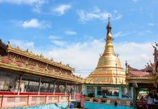 Pagoda de Botataung con el cielo azul, Rangún, Myanmar 3 Fotos de archivo