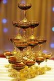 Pagoda de Champán en la boda Foto de archivo