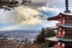 Pagoda de Chureito Imágenes de archivo libres de regalías