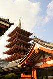 Pagoda de cinco historias Imagen de archivo libre de regalías
