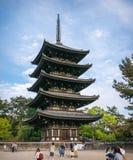 pagoda de Cinq-étage dans le temple de Kofuku-JI, Nara Photos libres de droits
